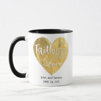 Faith Hope Love Personalized Wedding Ringer Mug