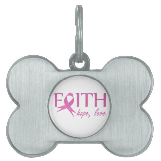 Faith,hope, love pet tag