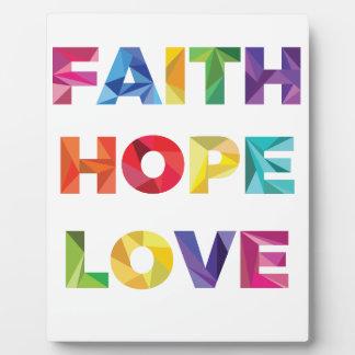 FAITH HOPE LOVE PHOTO PLAQUES