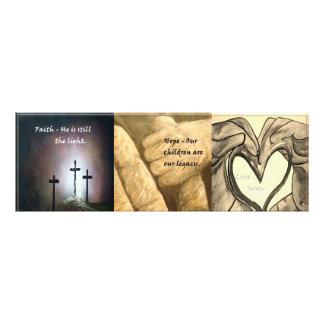 Faith, Hope, Love Photographic Print