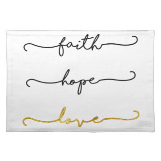 Faith Hope Love Placemat