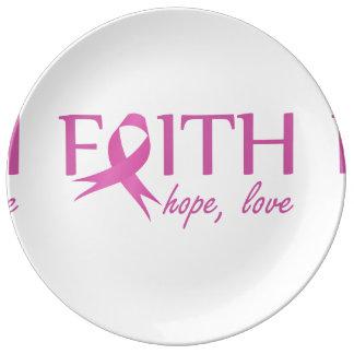 Faith,hope, love plate