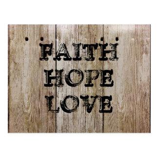 FAITH HOPE LOVE POSTCARD