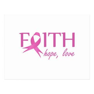 Faith,hope, love postcard
