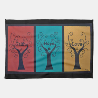 Faith~Hope~Love Tea Towel