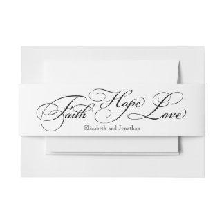 Faith Hope Love Wedding Invitation Belly Bands Invitation Belly Band