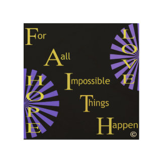 Faith Hope Love Wood Print