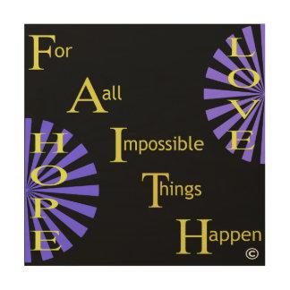 Faith Hope Love Wood Wall Art