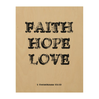 FAITH HOPE LOVE WOOD WALL DECOR