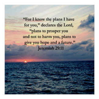 FAITH IN JEREMIAH 29:11 SUNRISE VERSE POSTER