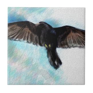 Faith is a raven ceramic tile