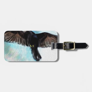 Faith is a raven luggage tag
