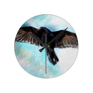 Faith is a raven round clock