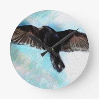 Faith is a raven wallclock
