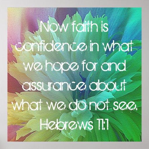 Faith is bible verse Hebrews 11:1 Print