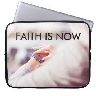 FAITH IS NOW 15 INCH NEOPRENE LAPTOP SLEEVE