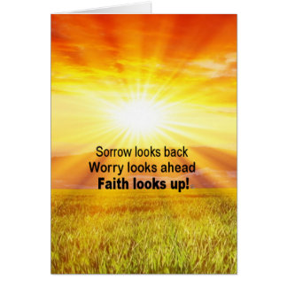 "Faith looks up!"" card"