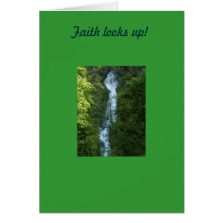 Faith looks up! card