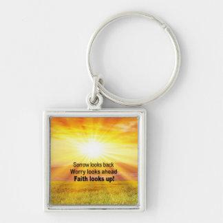 Faith Looks Up Key Ring