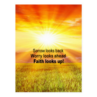 Faith looks up! postcard