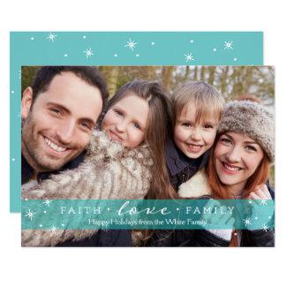 Faith + Love + Family Photo Holiday Card