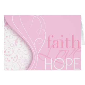 Faith Love Hope Greeting Card