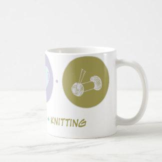 Faith Love Knitting Coffee Mugs