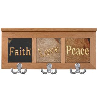 Faith, Love, Peace Coat Rack