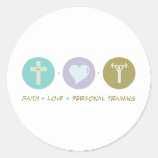 Faith Love Personal Training Round Sticker