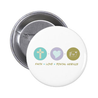 Faith Love Postal Service Pinback Buttons