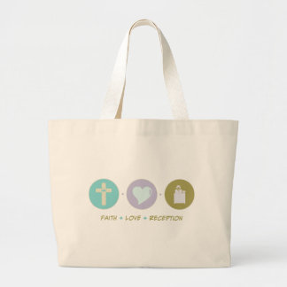 Faith Love Reception Large Tote Bag