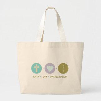 Faith Love Rehabilitation Large Tote Bag