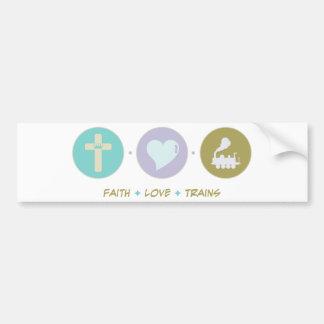 Faith Love Trains Bumper Sticker