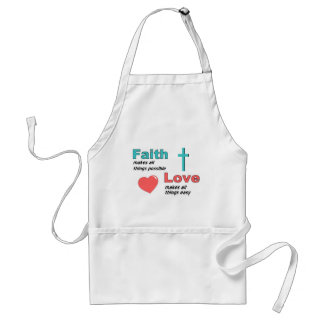Faith makes all things possible standard apron