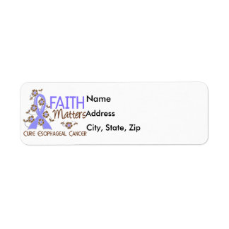 Faith Matters 3 Esophageal Cancer Return Address Label