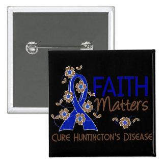 Faith Matters 3 Huntington's Disease 15 Cm Square Badge