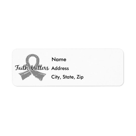 Faith Matters 5 Brain Tumour Return Address Label