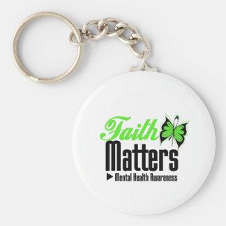 Faith Matters - Mental Health Awareness Basic Round Button Key Ring