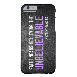 Faith means believing bible verse 2 Cor. 5:7 Barely There iPhone 6 Case