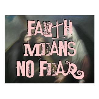 Faith means No Fear (laundrymat) Postcard