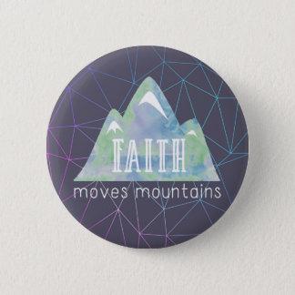 Faith Moves Mountains Purple Angles 6 Cm Round Badge