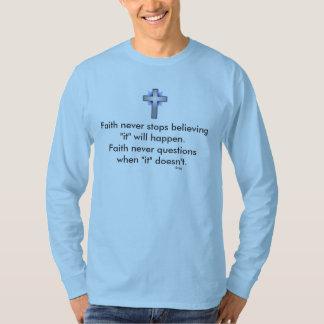 Faith Never Basic Long Sleeve w/Blue Flared Cross T-Shirt