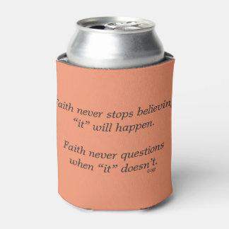 Faith Never Can Cooler w/Pink Flower Cross