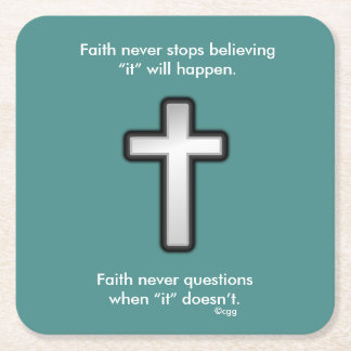 Faith Never Coasters w/Black Outline cross