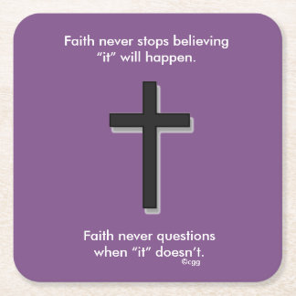 Faith Never Coasters w/Black Solid cross