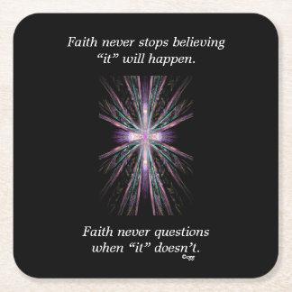 Faith Never Coasters w/Feather cross