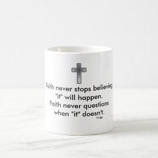 Faith Never Coffee Mug w/Blue Cross