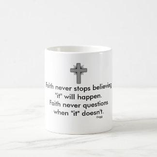 Faith Never Coffee Mug w/Grey Flared Cross