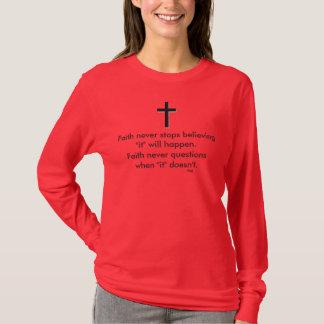 Faith Never Long Sleeve w/Black Solid Cross T-Shirt
