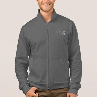Faith Never Male Jog Jacket w/Grey Flared Cross